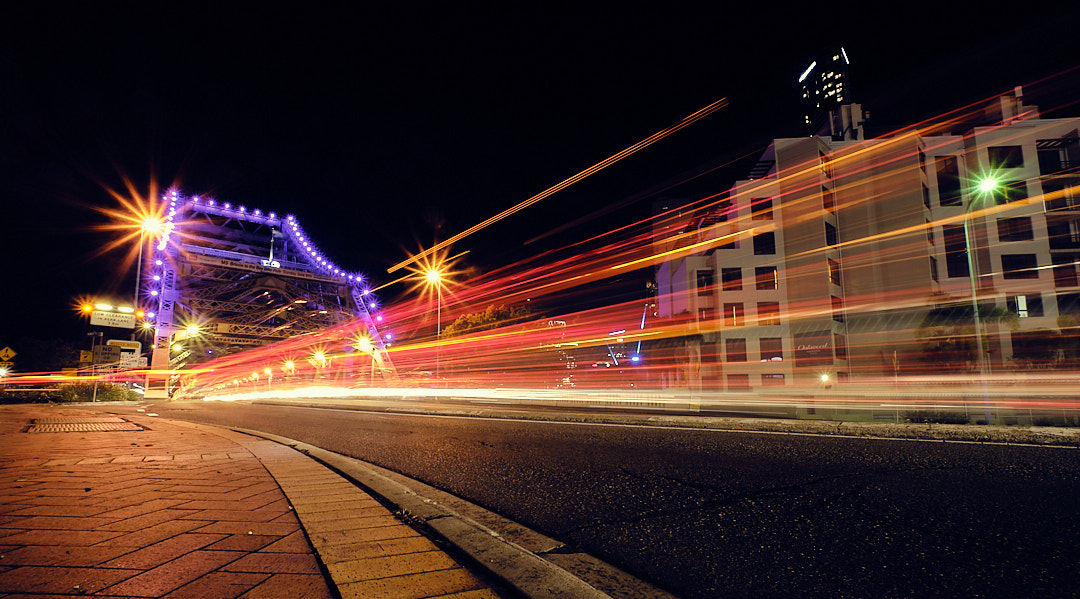 Light trails, Story Bridge